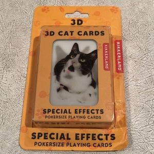 Kikkerland 3D cat playing cards new